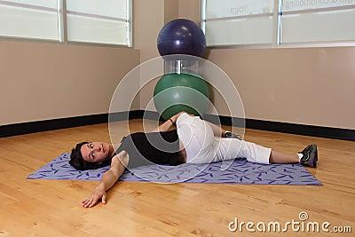 Yoga leg twist
