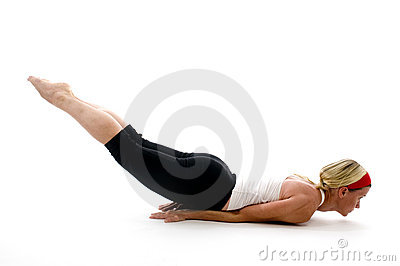 Yoga locust pose   fitness trainer