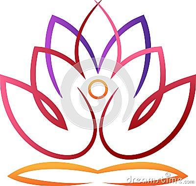 Yoga lotus Vector Illustration