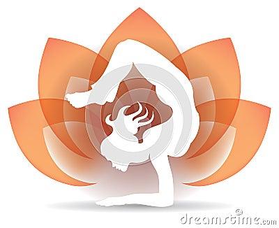 Yoga Lotus Logo Vector Illustration