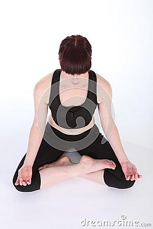 yoga lotus pose padmasana healthy exercise routine royalty