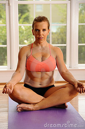 Yoga Lotus Pose by Woman