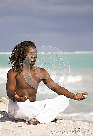 Yoga man in cuba