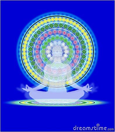 Free Yoga Mandala Royalty Free Stock Photos - 100796438