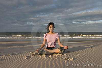 Yoga / Meditating at beach