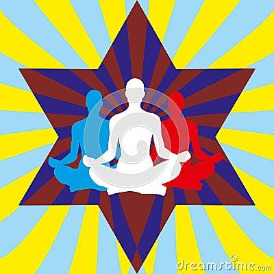 Yoga meditation background