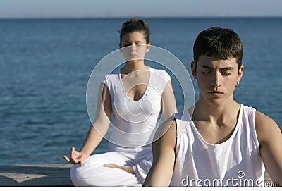 Yoga or meditation class