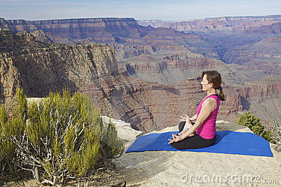 Yoga Meditation at Grand Canyon