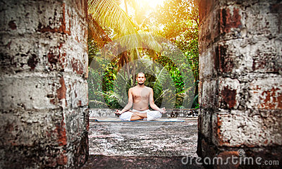 Yoga meditation in India