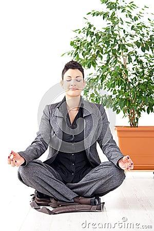 Yoga meditation at office
