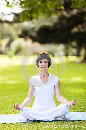 Yoga meditation outdoors