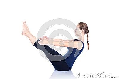 yoga paripurna navasana pose royalty free stock photo