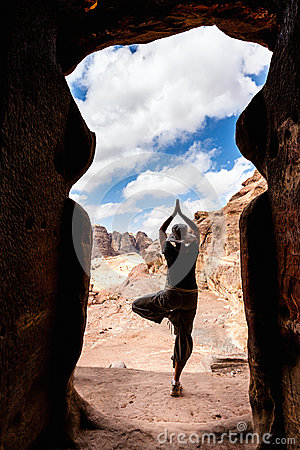 Yoga in Petra