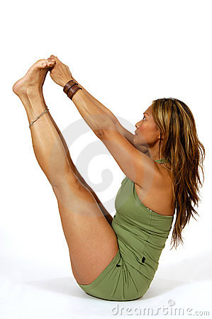 Yoga Pose Holding Toes