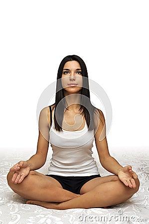 yoga pose of meditation royalty free stock photos  image