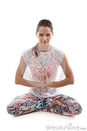 Free Yoga Pose Sukhasana Royalty Free Stock Photo - 48618315