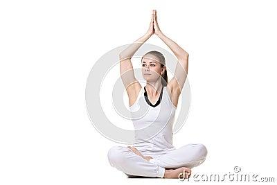 yoga pose sukhasana stock photo  image 54039295