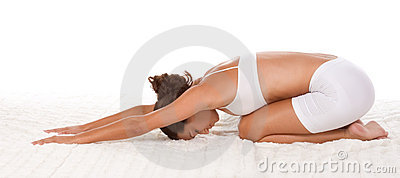 Yoga pose woman performing exercise