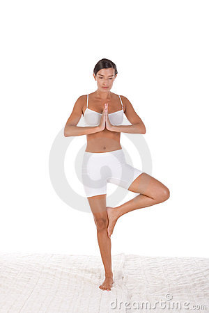 Yoga pose - Woman in sport clothes exercising