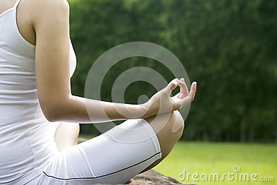 Yoga position shot outdoor