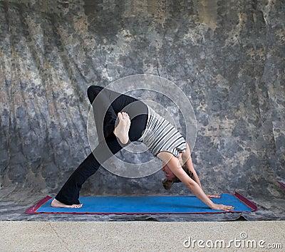 Yoga posture Eka Pada Adho Mukha Svanasana