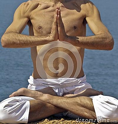 Yoga Posture on the rocks