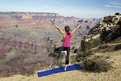 Yoga Practice at Grand Canyon