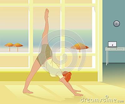 Yoga practice and Reiki self-healing