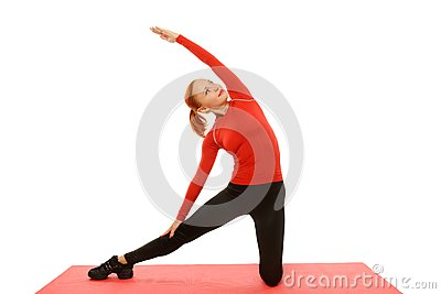Yoga practice. Woman doing asana
