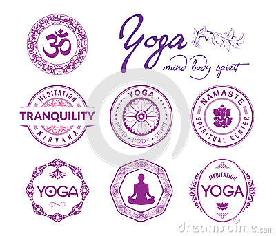 Yoga related stamps and seals