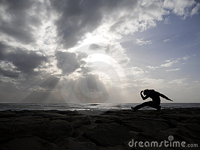 Yoga on the sea