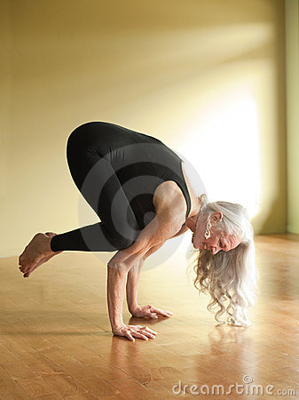 Yoga Senior Woman