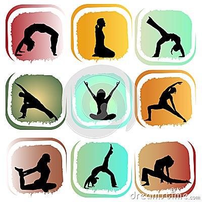 Free Yoga Set Royalty Free Stock Image - 15421146