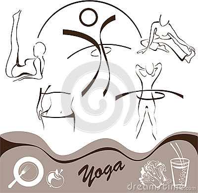 Yoga,  set  icon, logos vector