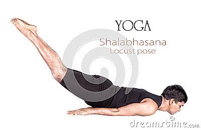 yoga shalabhasana locust pose royalty free stock photos