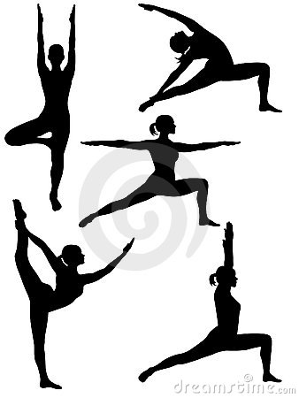 yoga silhouette 2 royalty free stock images image 8139299