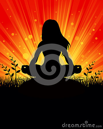 Yoga silhouette Background