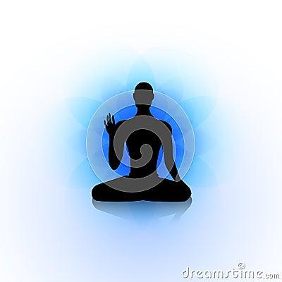 yoga silhouette stock vector  image 44047529