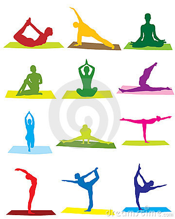 Free Yoga Silhouettes Royalty Free Stock Image - 5225146