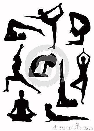 Free Yoga Silhouettes - Vector Stock Photos - 7844213