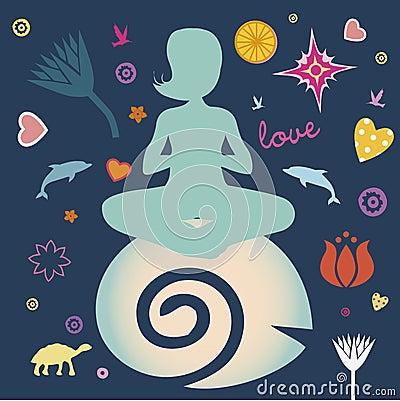 Yoga spring poster