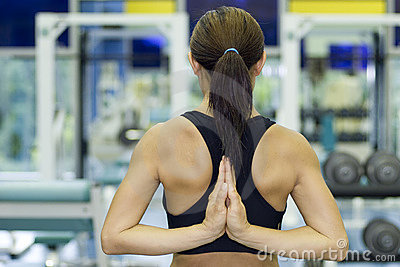 Yoga Stretch In Gym