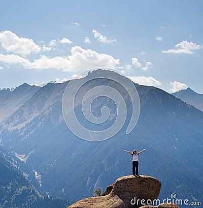 Yoga at summit