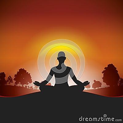 Yoga in the sunlight