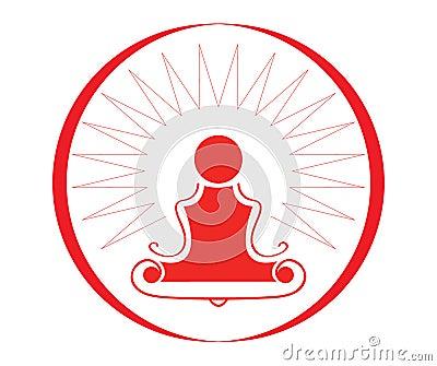 Yoga Symbol - Illustration Stock Image - Image: 15915241