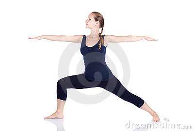 Yoga virabhadrasana II warrior pose