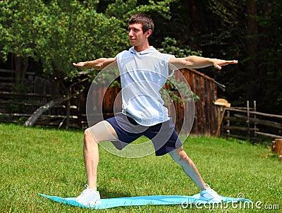 Yoga - Warrior Position