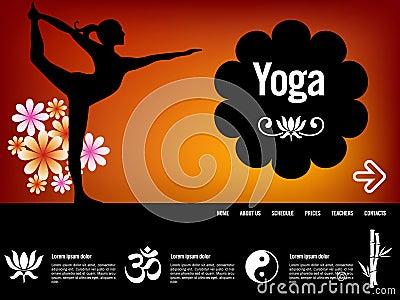Yoga website template