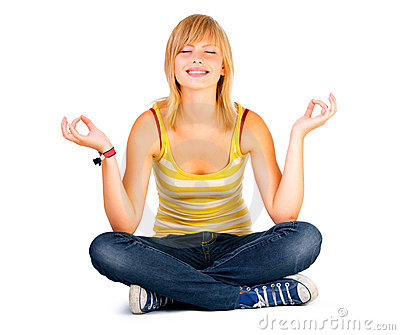 Yoga on a white background