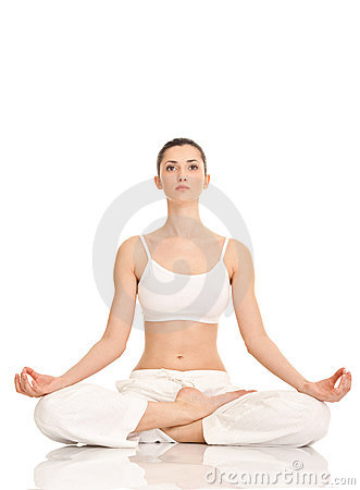 Yoga, Woman In Lotus Position Royalty Free Stock Photo - Image: 19523955